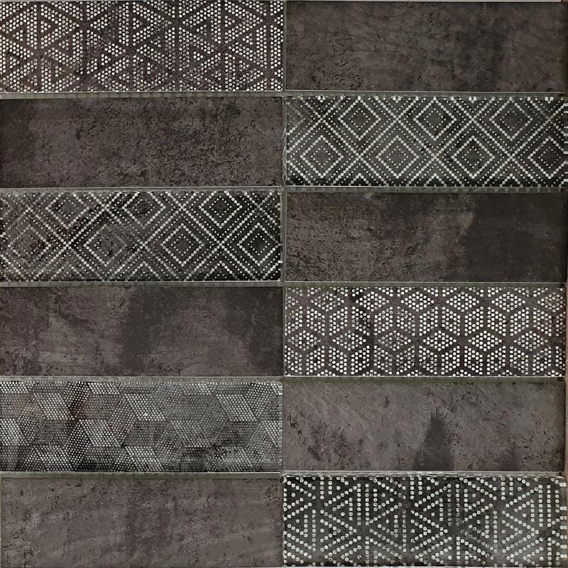 Ground | Mosaik Glas anthrazit glänzend | matt