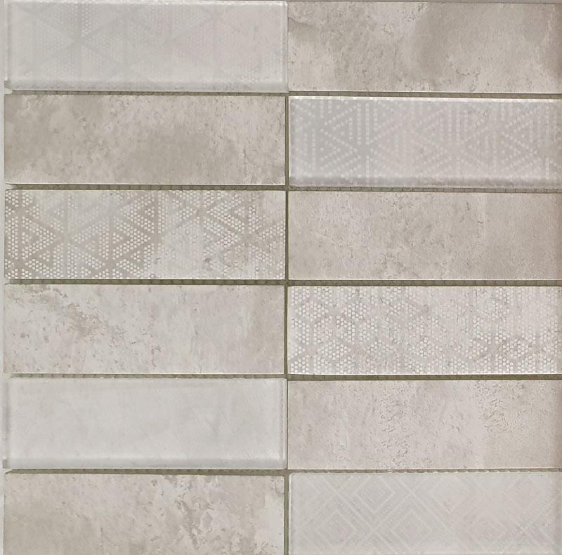 Ground | Mosaik Glas creme glänzend | matt